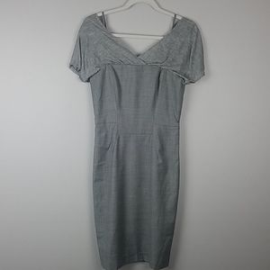 Ports 1961 Structured Grey Dress